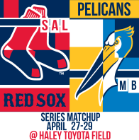 Sox and MB Pelicans April 27-29