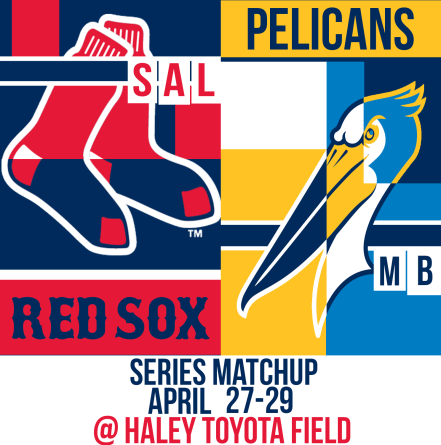 Sox and MB Pelicans April 27-29